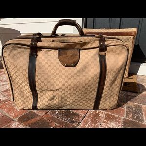 Authentic Vintage Gucci Luggage Suitcase Travel